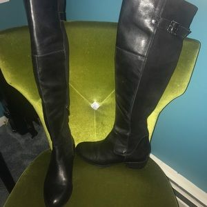 Sam Edelman Over the Knee leather& stretch boot.